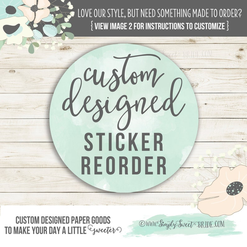 Wedding favor sticker  RE ORDER. Add on additional stickers or image 0