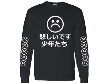 Sad Boys by @DopePremium Vintage Very Rare Sad Boys Japan VTG Black Long Sleeve #2