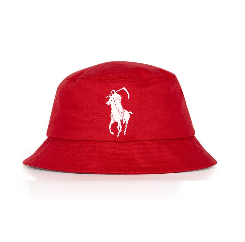 3089457f745bb Grim Reaper Polo Japan Very Rare Red bucket hat by Dope