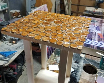 Epoxy resin end table