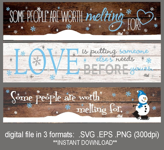 Svg Snowman Melting For You Sign Olaf Quotes Svg Some Etsy