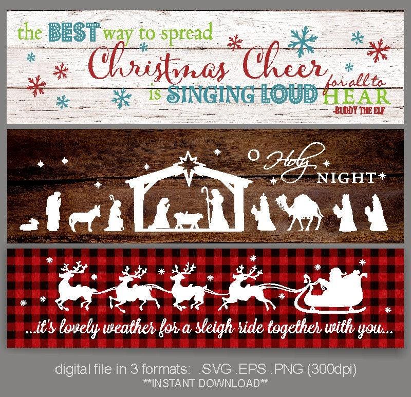 SVG Christmas sign / Sleigh ride SVG / Spread Christmas Cheer | Etsy