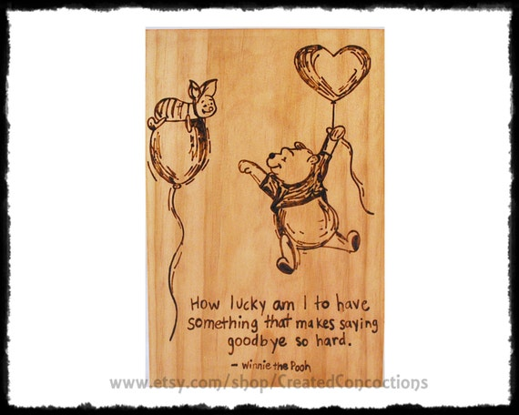 Winnie The Pooh And Piglet How Lucky Am I To Have Something Etsy