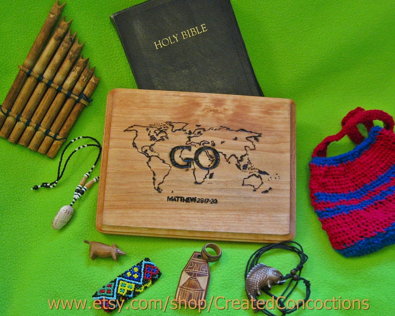 Great Commission Matthew 28 17 20 Go World Map Etsy