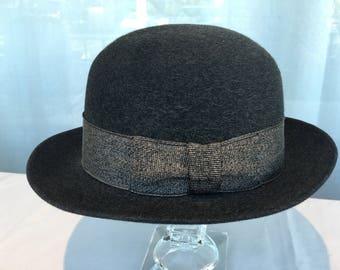 The Gun Club by Stetson Vintage Men s Dark Brown Bowler Hat 863b47a062cc