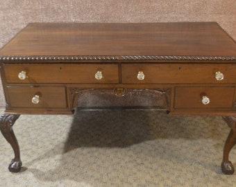 Antique Partners Desk L Shaped Desk White Wood