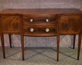Antique Danersk Inlaid Mahogany Federal Style Sideboard