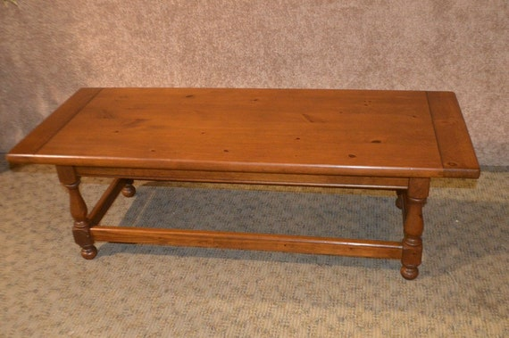 Awe Inspiring Vintage Ethan Allen Antique Pine Large Farmhouse Style Coffee Table Gmtry Best Dining Table And Chair Ideas Images Gmtryco