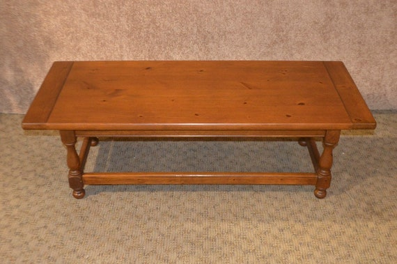 Swell Vintage Ethan Allen Antique Pine Large Farmhouse Style Coffee Table Gmtry Best Dining Table And Chair Ideas Images Gmtryco