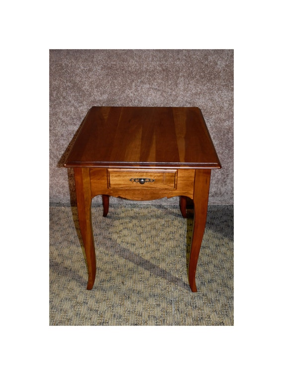 Solid Cherry Ethan Allen Transitional Style Side Table Etsy
