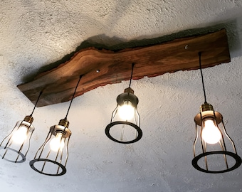 live edge lighting etsy