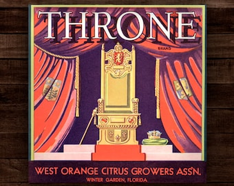 Throne (Wood Print) / Native Soil - The Citrus Collection