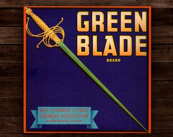 Green Blade (Wood Print) / Native Soil - The Citrus Collection