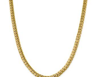 e59a53aa2459 Men s 14K Yellow Gold Miami Cuban Chain Necklace - 24 inches - 64.1 grams