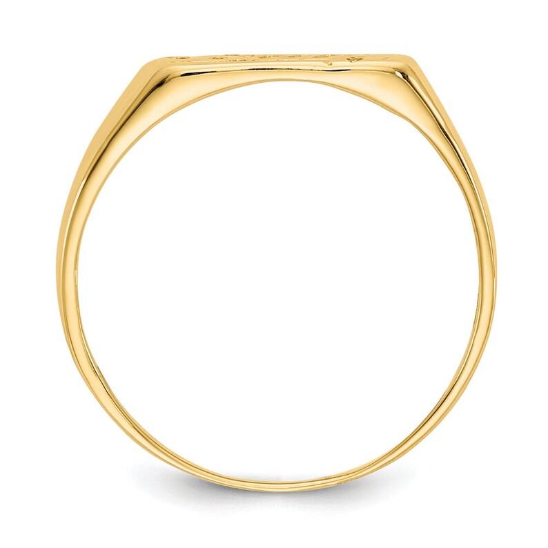 Size 2 Children/'s Girl/'s Modern 14K Yellow Gold Baby Letter Band Ring
