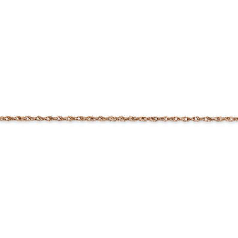 Ladies 14K Rose Gold Carded Cable Rope Chain Necklace 20 inch 1.15mm 1.5g