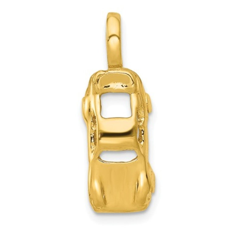 Sports Charms 10k Yellow Gold Racing Flags Charm Pendant