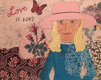 Love is kind,  Mixed Media Painting