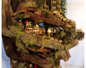 Fairy House Garden Custom Wood Miniture Dollhouse MorningSong Abode Is Truly A Unique Wonder