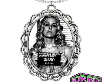 Baby Firefly Mugshot Large Cameo Pendant Silver Chain Horror Necklace *Multi Colour Options*