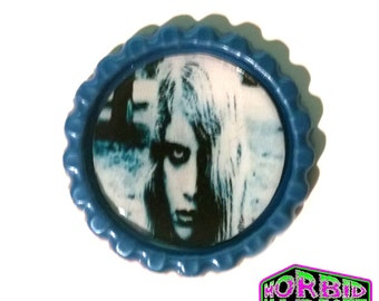 Night Of The Living Dead Blue Horror Pin Badge
