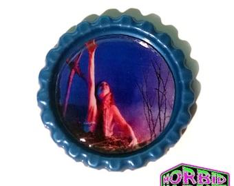 Evil Dead Blue Horror Pin Badge