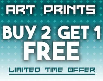 Buy 2 Get 1 FREE - 11x17 Art Print Combo