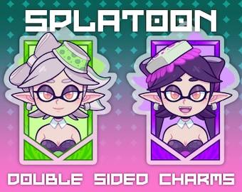 """3"""" Splatoon - Callie & Marie Double Sided Keychain Charm Acrylic Itabag"""
