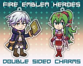 "2.5"" Robin Tiki Keychain Charm - Fire Emblem Heroes - Double Sided Itabag FEH Grima"