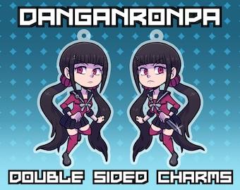 """2.5"""" Maki Harukawa Keychain Charm - Double Sided - Danganronpa V3 Itabag"""