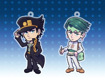 "2.5"" Cool Guy / Manga Guy - Keychain Charm - Double Sided Glitter Itabag"