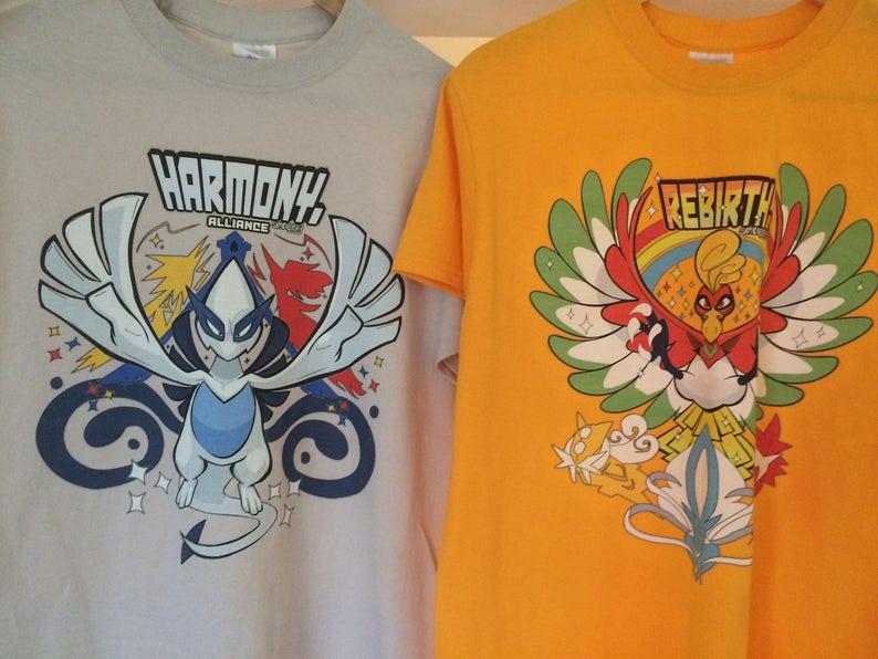 d00279cf PokeGo Shirts: Harmony & Rebirth Hoho And Lugia | Etsy