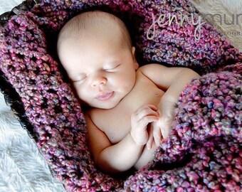 Newborn Victorian Baby Blanket /& Matching Hat;  Beanie Photo Prop Baby Shower Gift Shabby Chic Grey White Crochet Granny Square
