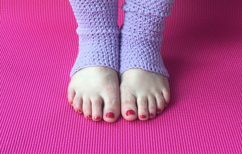 Yoga Sock, Yoga Accessories, Yoga Class, Crochet, Tumbling Class, Foot  Warmer, Pedicure Sock, Dance, Ballet, Jazz