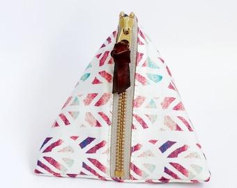 Triangle zipper pouch, Piper