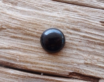Pair Black Banded Agate cabochons 11x11mm
