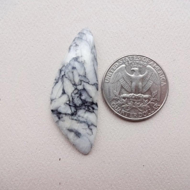 Rare Pinolite Pinolith long triangle cabochon 44x16mm