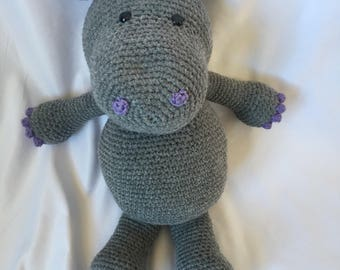 Crochet Stuffed Hippo | Amigurumi Hippo | Amigurumi | Crochet Hippo | Stuffed Animal | Crochet Animal