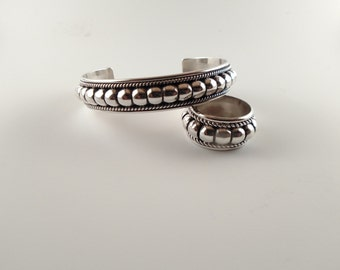 Navajo jewelry // matching set // Navajo bracelet // Navajo ring