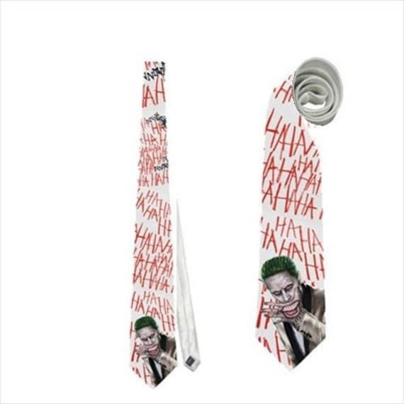 Mechant Joker Cravate Ha Ha Comique De Tatouage Sourire Ha Etsy