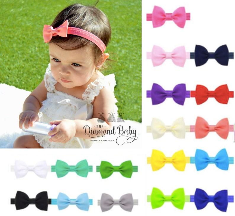 Réglable Big Bow Bandeau Bandeau Top Baby Noeud Bandeaux Fille Over sized Bow Accessoires de puériculture Accessoire bébé