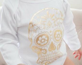 Baby Halloween Onesie-sugar Skull Onesie-First Halloween Onesie-Halloween Onesie