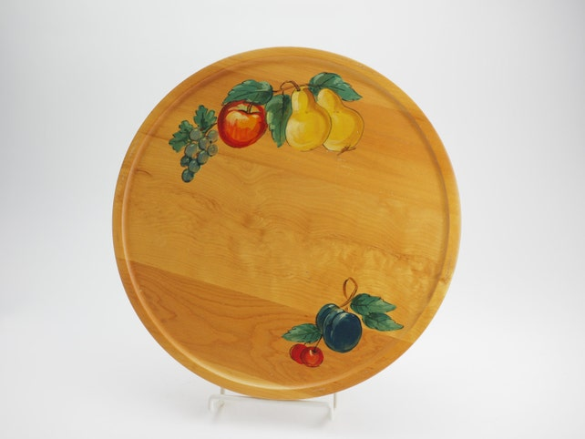 Lazy Susan Milwaukee Enchanting Lazy Susan Hand Painted Wood With Fruit Design From GH Etsy