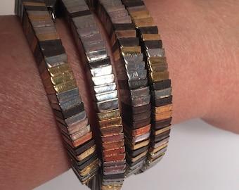 Tri-Metal Coil Bracelet