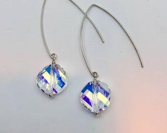 Sterling Swarovski Drop Earrings