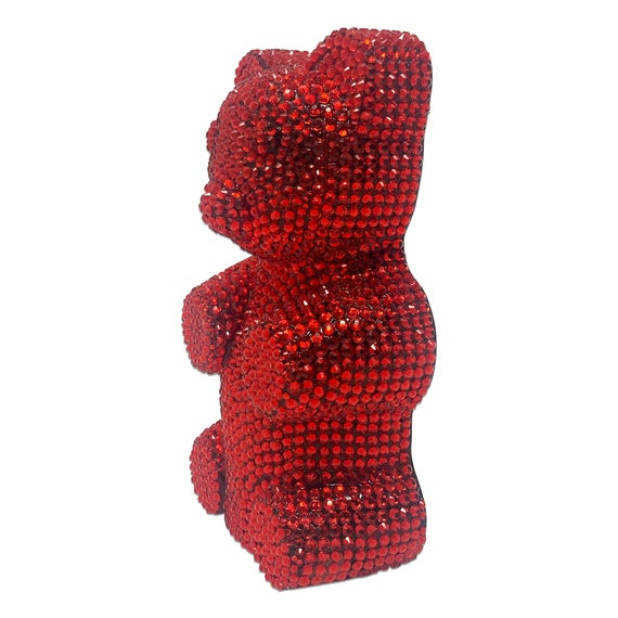 Novelty Candy Costume Accessory /& Home Decor Display Large Resin Crystal Egyptian Glam Rhinestone Red Gummy Bear Art Piece Sculpture