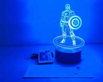 3D LED Nachtlichter Hawkeye Superheld Tischlampe Schreibtischlampe Bettlampe