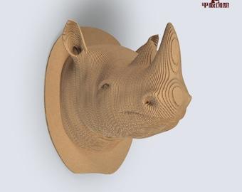 Rhino Trophy   - DIY cardboard KIT