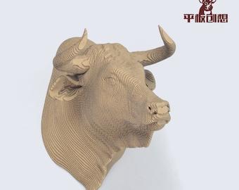 Bull Trophy   - DIY Cardboard Craft