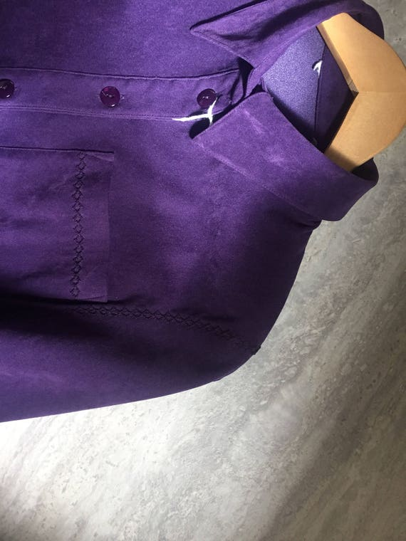 PURPLE VELOUR Blazer - image 5